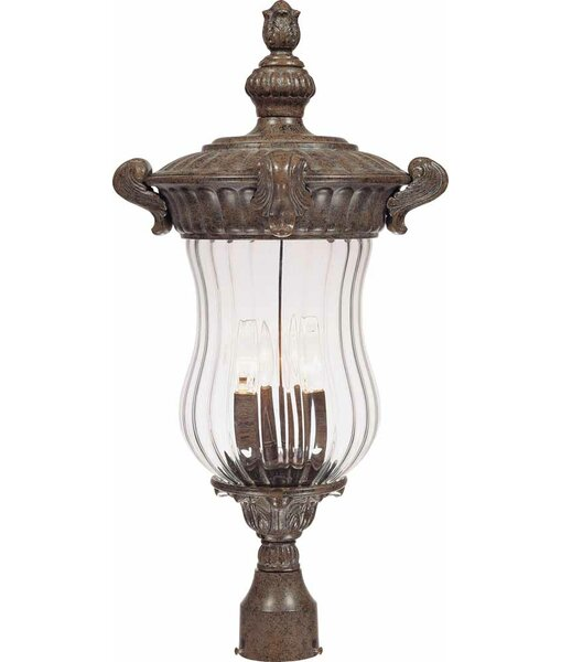 Melrose Outdoor 3-Light Lantern Head by Volume Lighting