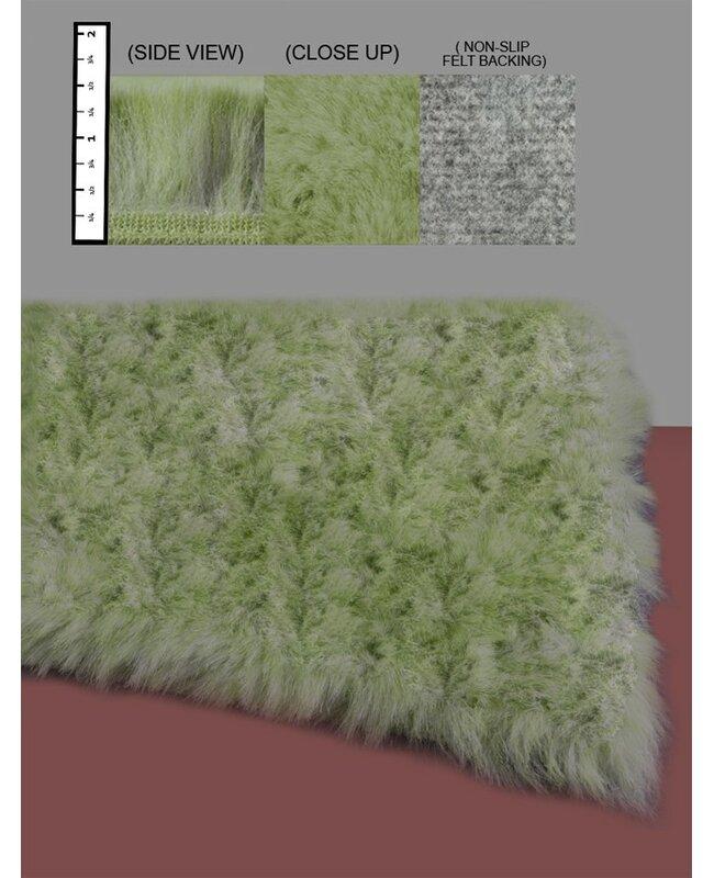 IXI Eros Faux Fur Celery Green Area Rug & Reviews