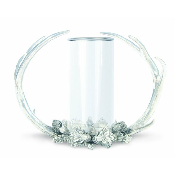 Lodge Antler Glass Hurricane by Vagabond House