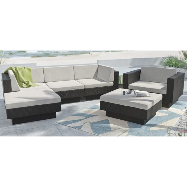 Park Terrace 6 Piece Sectional Set With Cushions By DCOR Design