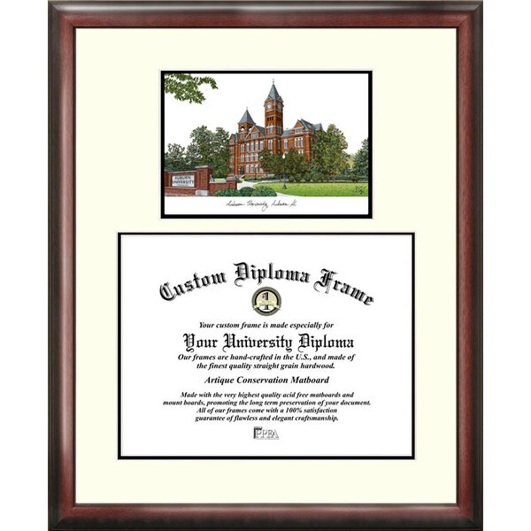 NCAA Auburn University Scholar Lithograph Picture Frame by Campus Images