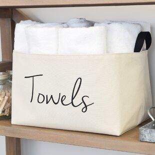 Towels Fabric Storage Basket