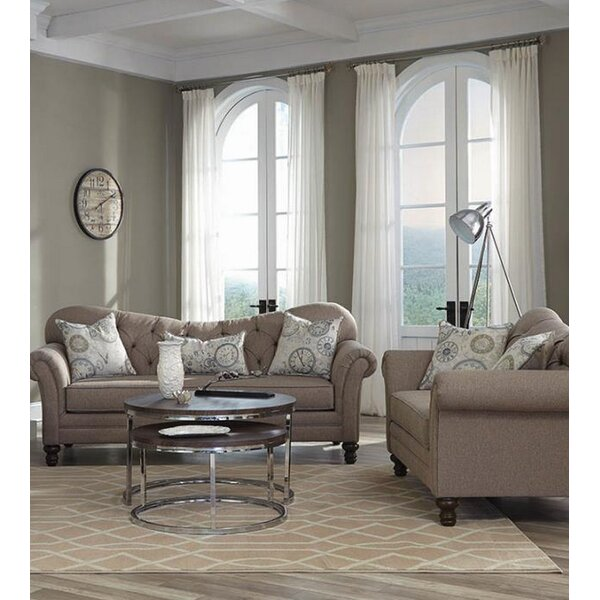 Belle 2 Piece Living Room Set by One Allium Way