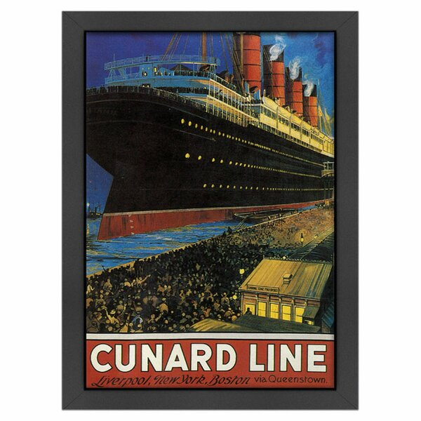 Cunard Framed Vintage Advertisement by Americanflat