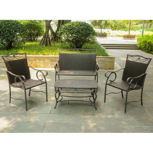 Stapleton 4 Piece Sofa Seating Group by Charlton Home