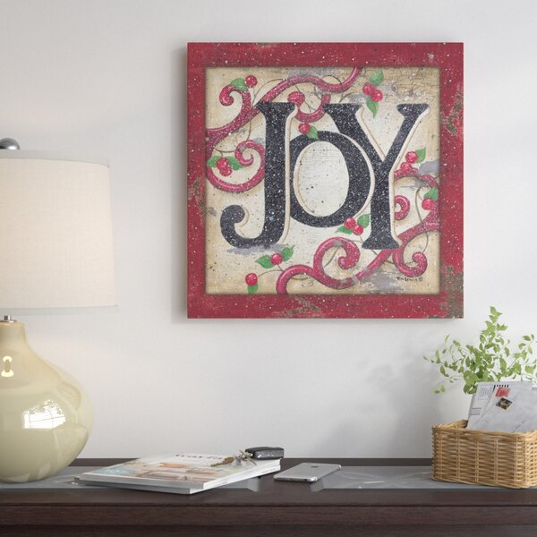 Joy II Textual Art on Wrapped Canvas by The Holida