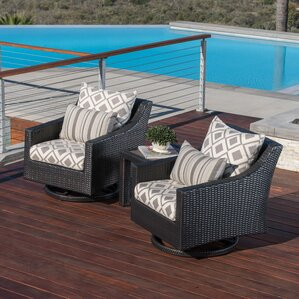 Northridge 3 Piece Deep Sunbrella Seating Group With Cushions