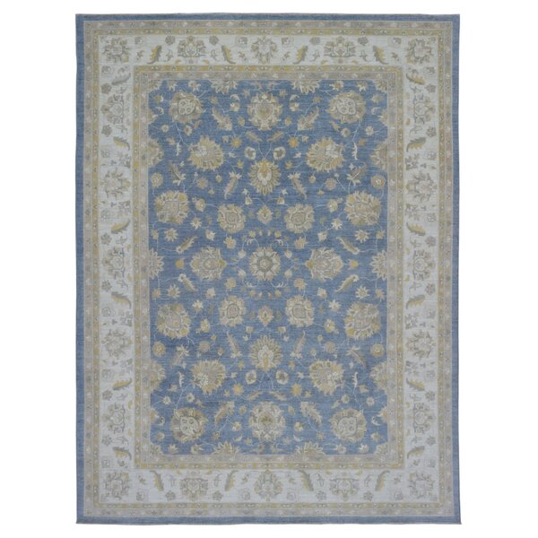 One-of-a-Kind Ardith Hand-Woven Wool Blue/Beige Area Rug by Isabelline