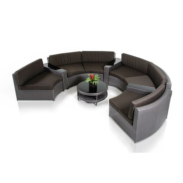 Hornback 8 Piece Sectional Set with Cushions by Latitude Run