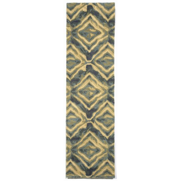 Terrill Hand Tufted Wool Blue/Yellow Area Rug by Brayden Studio