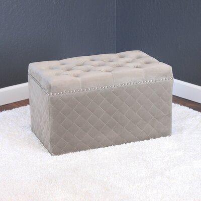 Mercer41 Brandon-Lee Tufted Ottoman  Upholstery: Taupe