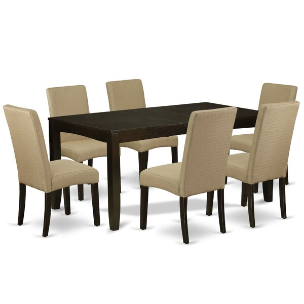Fehling 7 Piece Extendable Solid Wood Dining Set by Winston Porter Winston Porter