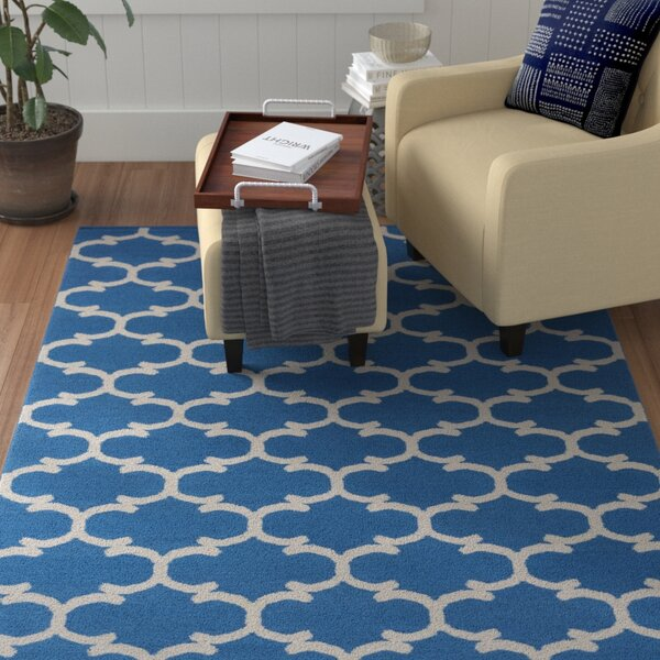 Ayles Blue/Ivory Area Rug by Winston Porter