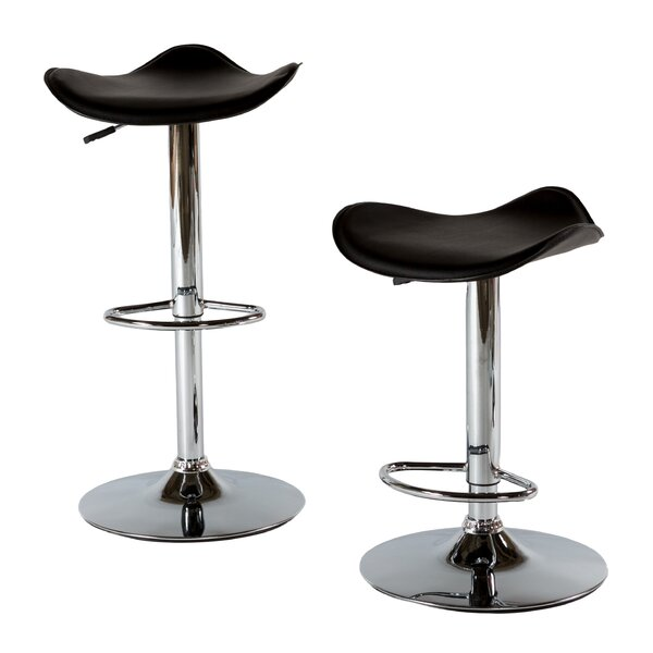 Adjustable Height Swivel Bar Stool (Set of 2) by At Home USA