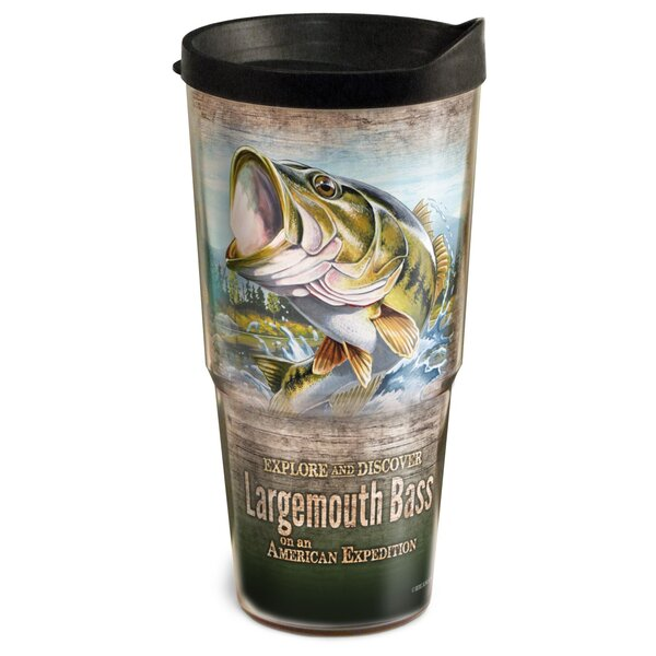 Largemouth Bass 2-Tier 24 oz. Plastic Travel Tumbler by American Expedition