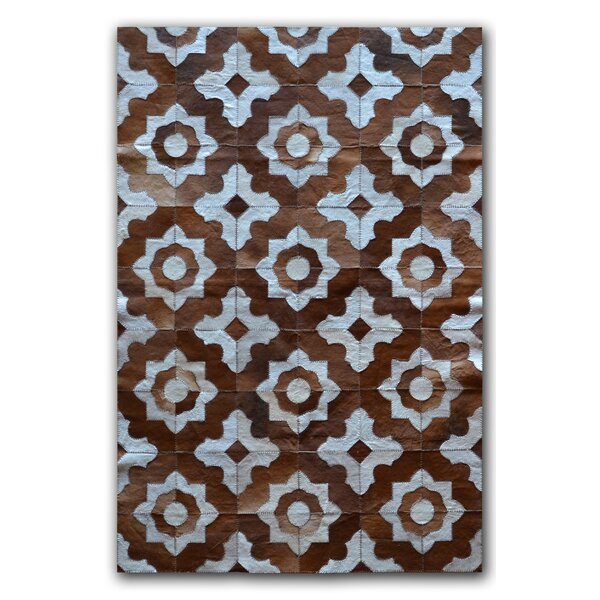 Marrakeche Brown/Blue Cowhide Area Rug by Natural Rugs