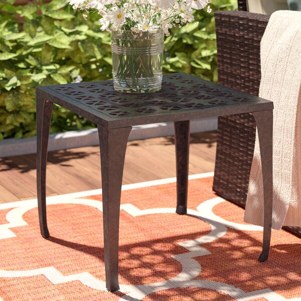 Kavanaugh Outdoor Metal Side Table by Charlton Home