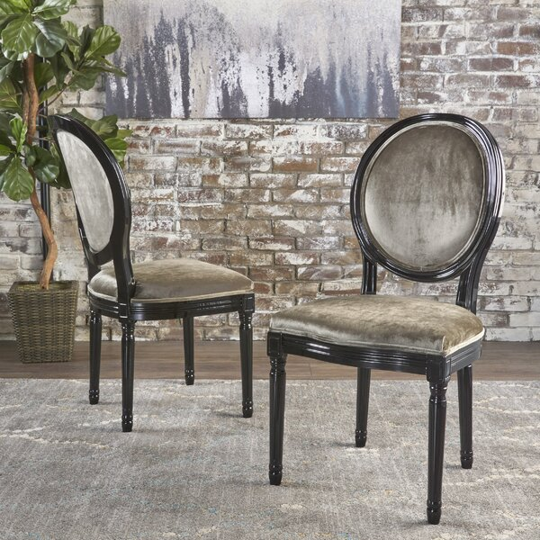 Jamar Velvet Upholstered Dining Chair (Set of 2) by Rosdorf Park
