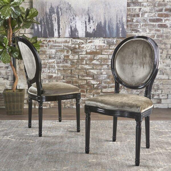 Jamar Velvet Upholstered Dining Chair (Set of 2) by Rosdorf Park
