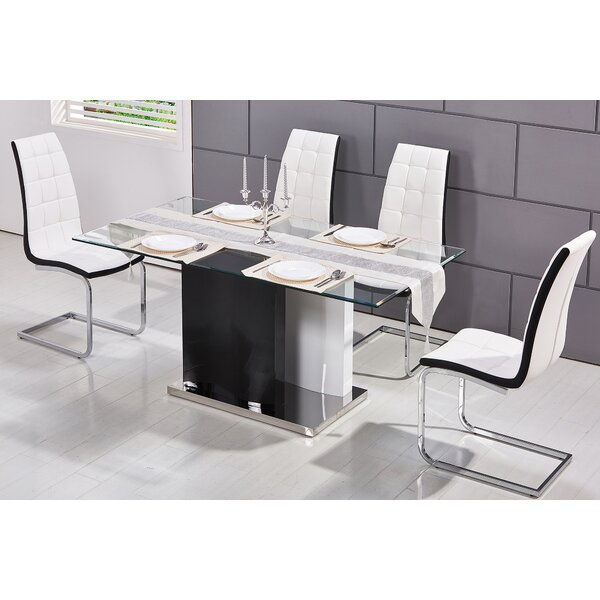 Saffo Modern 5 Piece Dining Set by Orren Ellis