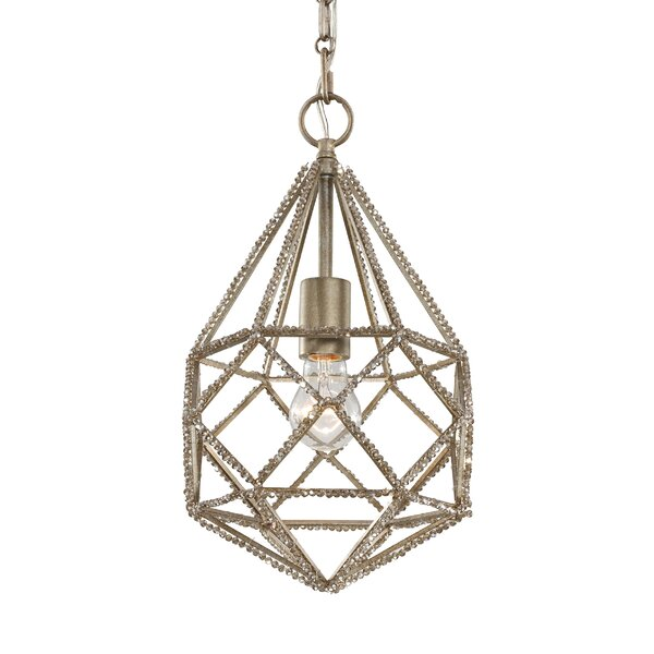 Diamond Cut 1 Light Geometric Pendant By Birch Lane Kids.