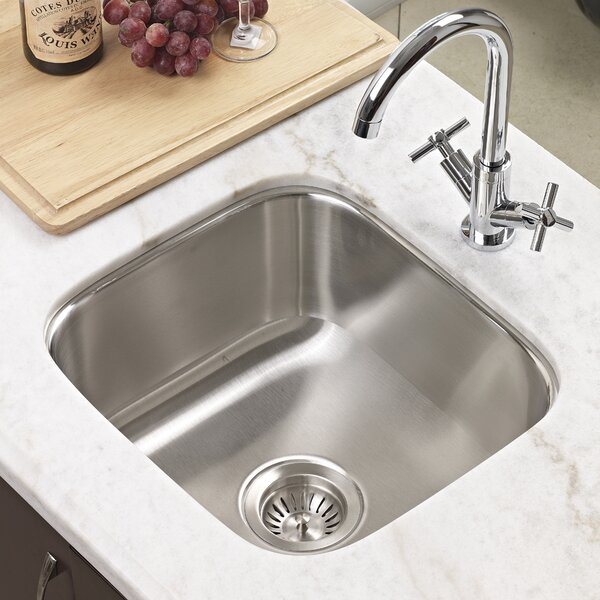 Club 17 94 L X 16 25 W Undermount Square Bar Sink By Houzer.