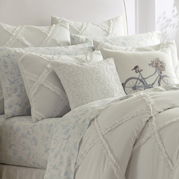 Adelina Ruffle Cotton Comforter Set by Laura Ashle