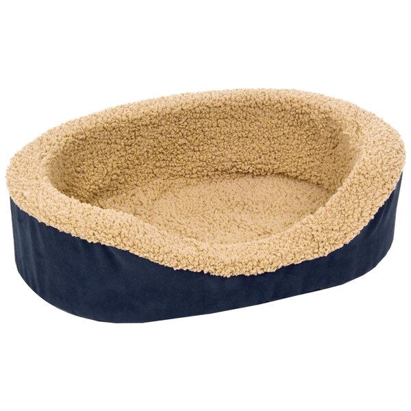 Plush Lounger Bolster Dog Bed by Petmate