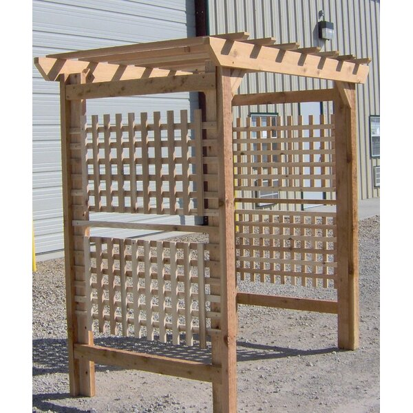 Oversized Classic Wood Arbor by Threeman Products