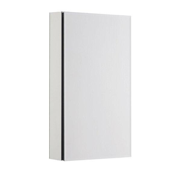 Stites Bevel Mirror 15 x 26 Surface Mount Frameless Medicine Cabinet with 3 Adjustable Shelves