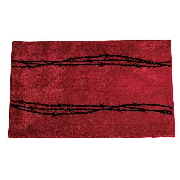 Galyean Red Area Rug by Loon Peak