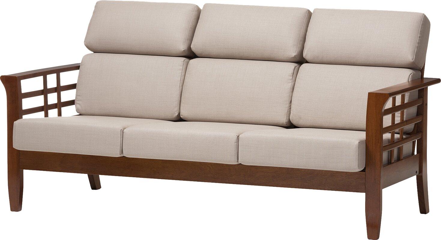 Baxton Studio Armanno 3 Seater Living Room Sofa