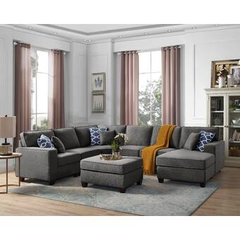 Groovy Winston Porter Nibbi Aries Modular Sectional With Ottoman Gmtry Best Dining Table And Chair Ideas Images Gmtryco