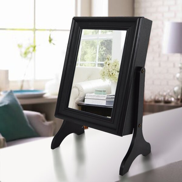 Halter Tabletop Jewelry Armoire with Mirror by Winston Porter
