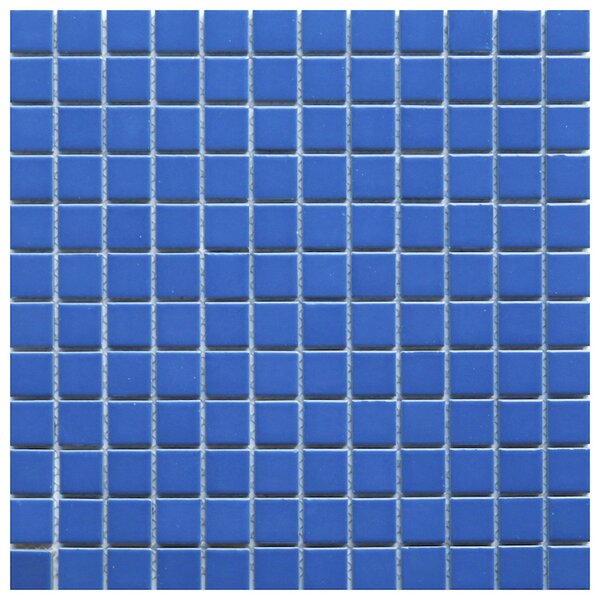 Mileto 0.8 x 0.8 Ceramic Mosaic Tile in Blue by NovoTileStudio