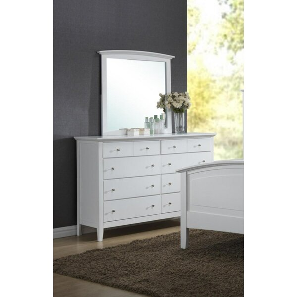 Dicken 8 Drawer Double Dresser with Mirror by Red Barrel Studio