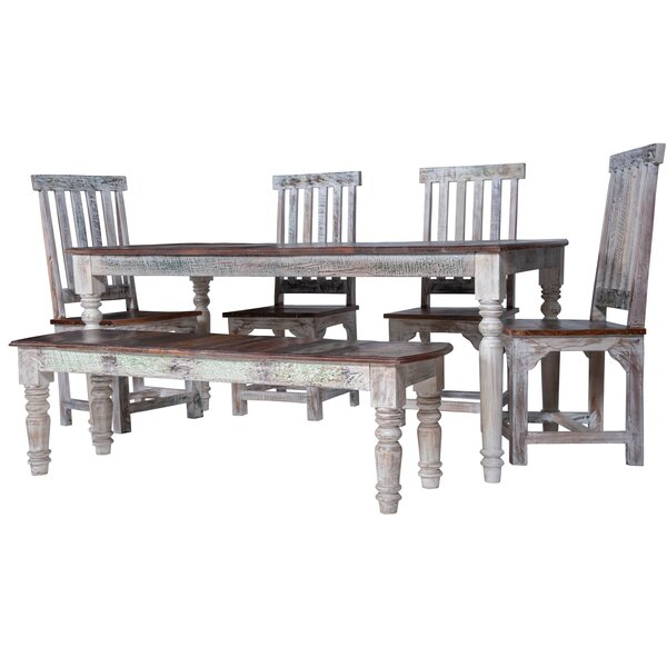 Dorffman 6 Piece Solid Wood Dining Set by Gracie Oaks