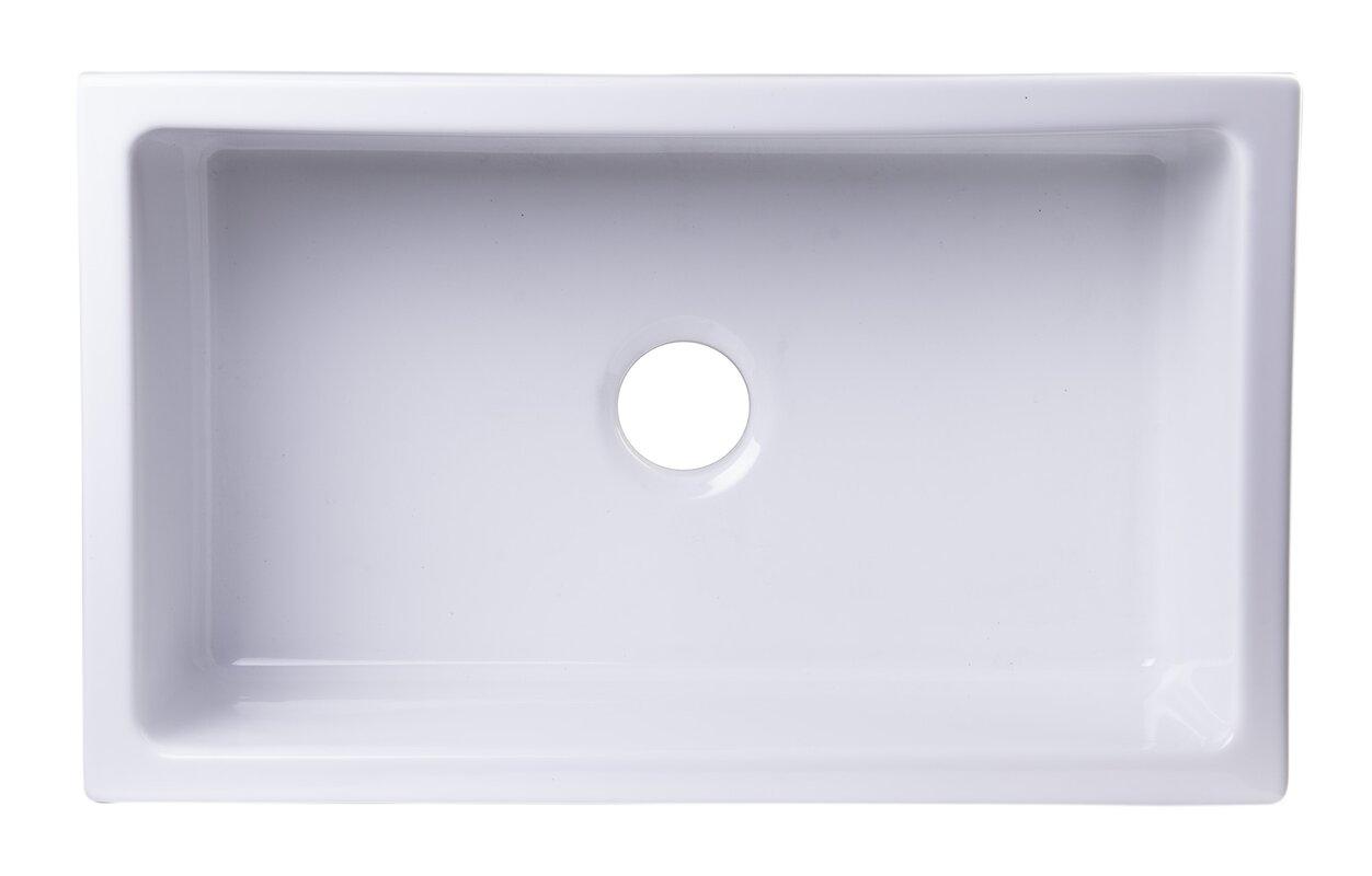 "30"" x 18"" Undermount Fireclay Kitchen Sink #fireclay #farmsink #farmhousesink"
