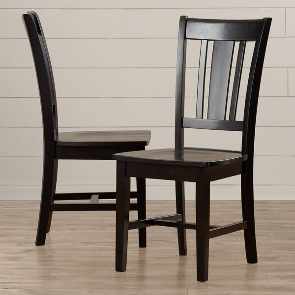 Malcolm Solid Wood Dining Chair (Set of 2) by August Grove
