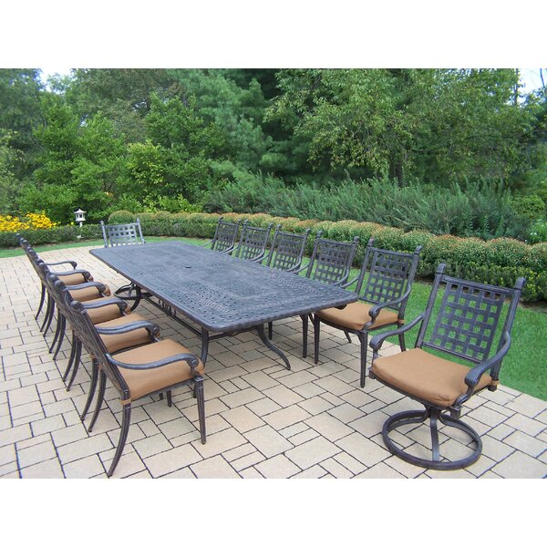 Vandyne 13 Piece Extendable Dining Set with Cushions by Darby Home Co