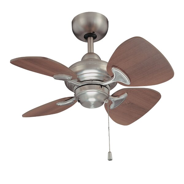 24 Leddy 4-Blade Ceiling Fan with Remote by Winston Porter