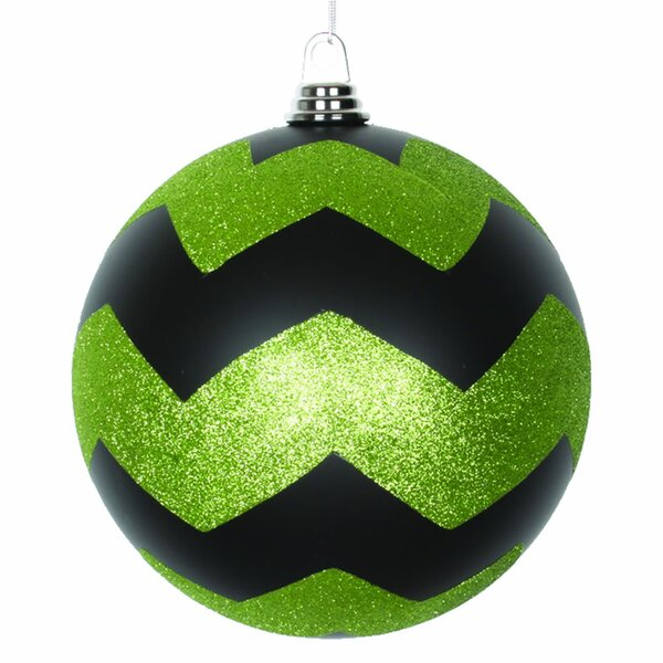 Glitter Chevron Ball Christmas Ornament by The Holiday Aisle