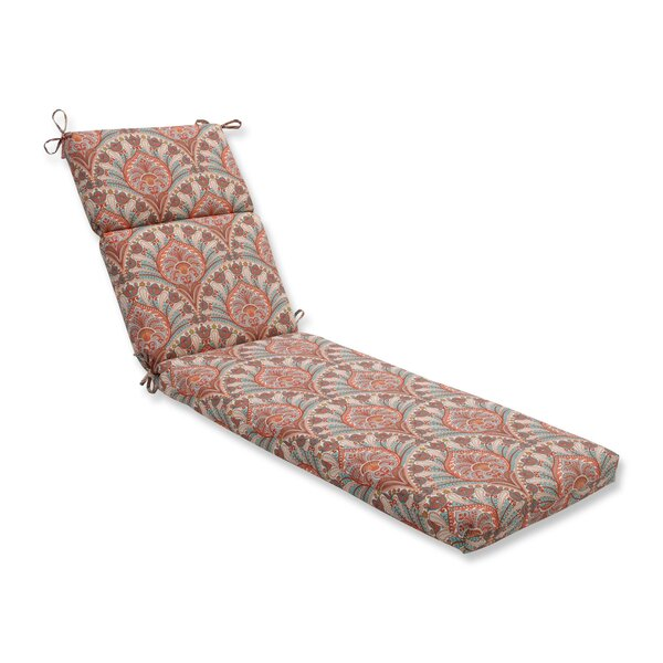 Crescent Beach Indoor/Outdoor Chaise Lounge Cushion by Pillow Perfect