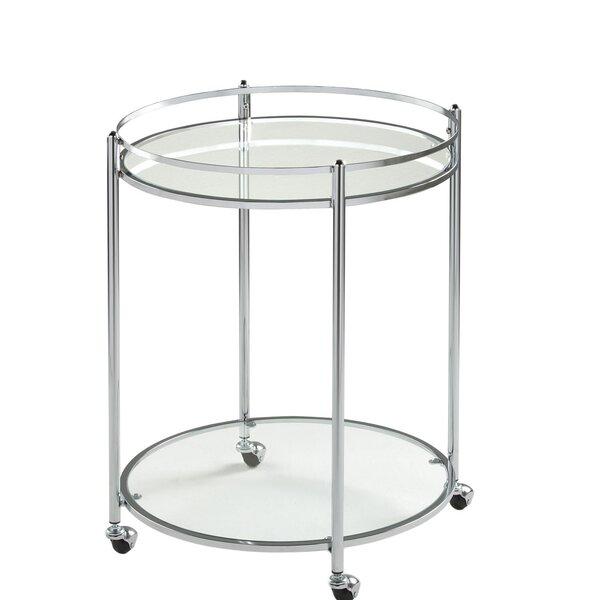 Veranda Round Bar Cart by Offex