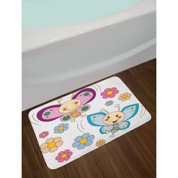Lilac Nursery Bath Rug by East Urban Home