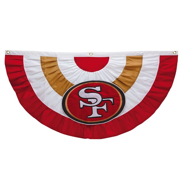 NFL Team Celebration Bunting Pleated Flag by Team Sports America