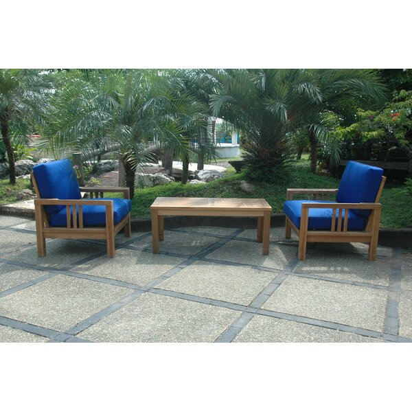 South Bay 3 Piece Teak Deep Seating Group by Anderson Teak Anderson Teak