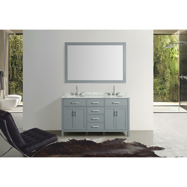 Weatherford 61 Double Bathroom Vanity Set with Mirror by Orren Ellis