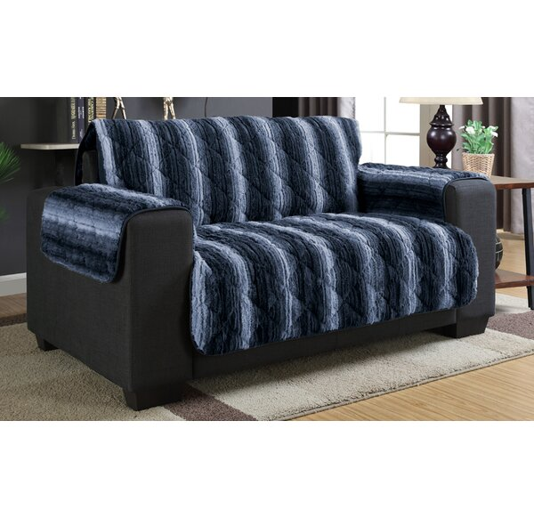 Luxury Box Cushion Loveseat Slipcover by Loon Peak