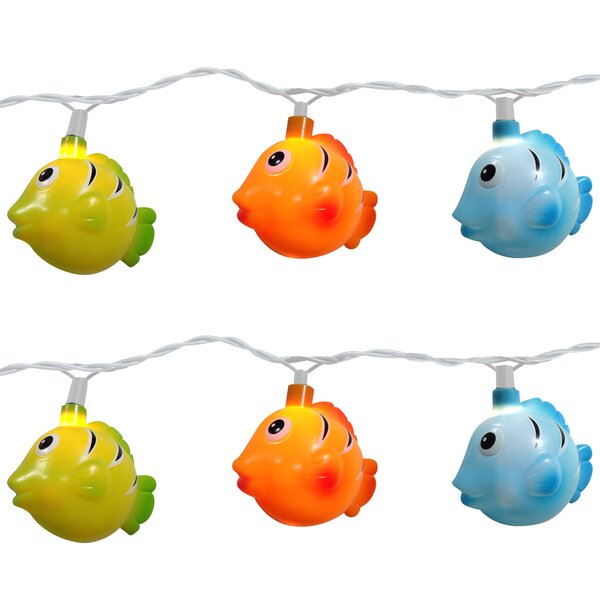 10 Light Fish String Light (Set of 2) by Brite Star